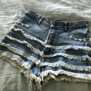 Nasty gal denim cut off shorts